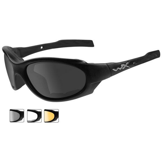 Wiley X XL-1 Advanced Schutzbrille - Gläser in Smoke Grey + Transparent + Light Rust / Gestell in Mattschwarz