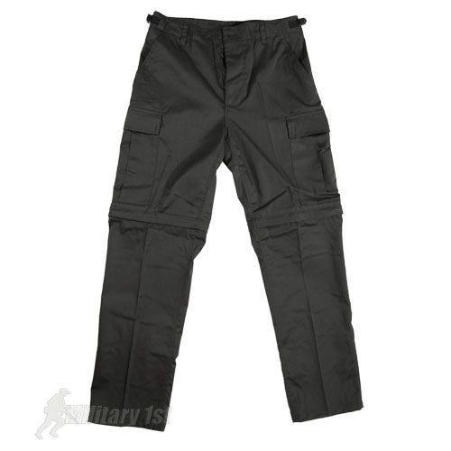 Mil-Tec Feldhose mit abtrennbaren Hosenbeinen Schwarz