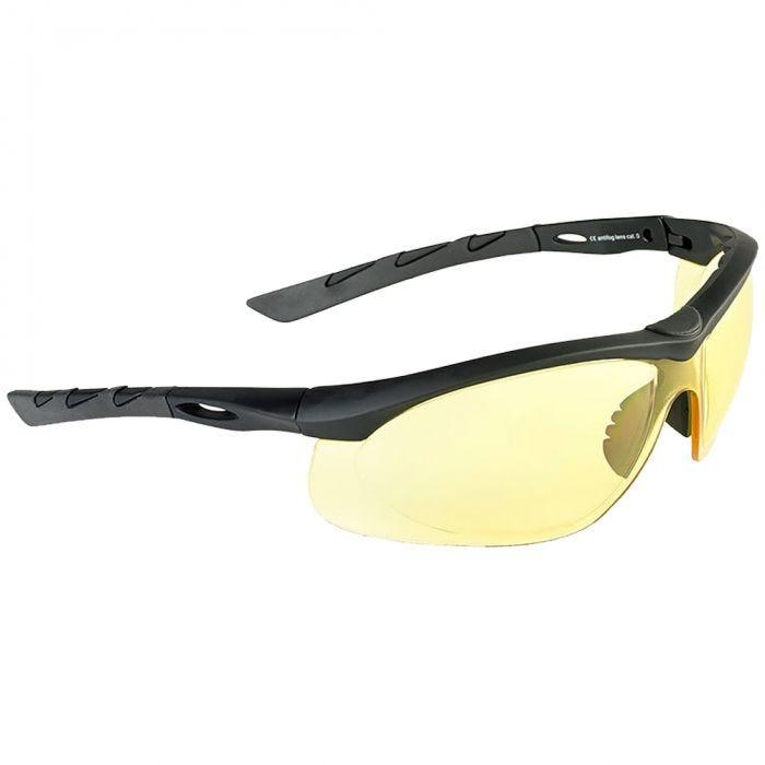 Swiss Eye Lancer Sonnenbrille mit Gläsern in Gelb / Gummigestell in Schwarz
