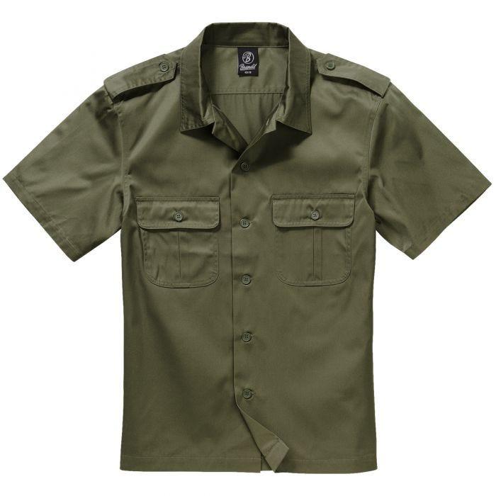 Brandit US Kurzärmliges Hemd Olivgrün