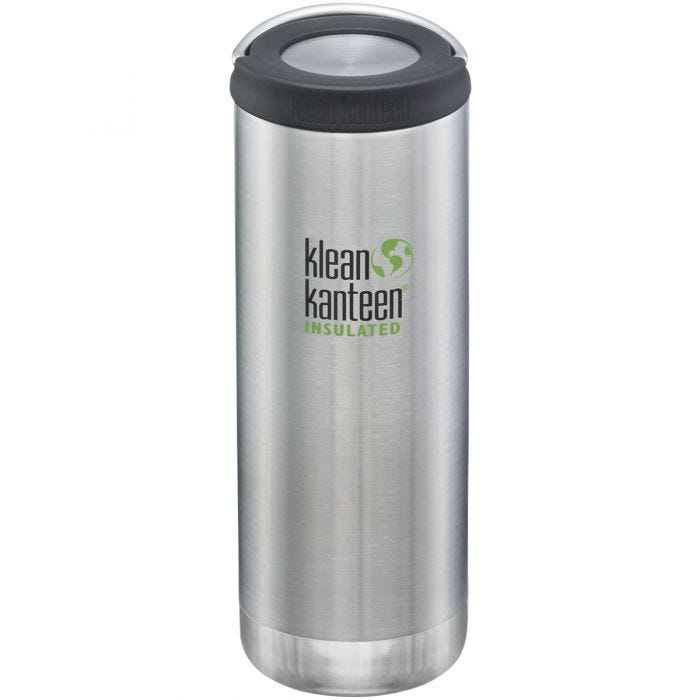 Klean Kanteen TKWide 473ml Isolierte Trinkflasche mit Loop Cap Brushed Stainless