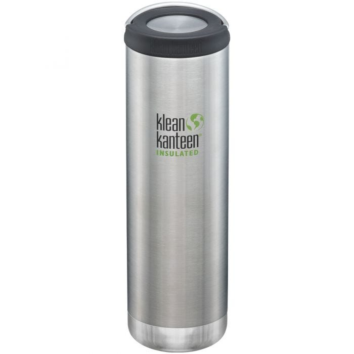 Klean Kanteen TKWide 591ml Isolierte Trinkflasche mit Loop Cap Brushed Stainless