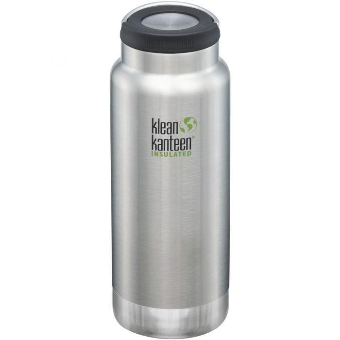 Klean Kanteen TKWide 946ml Isolierte Trinkflasche mit Loop Cap Brushed Stainless