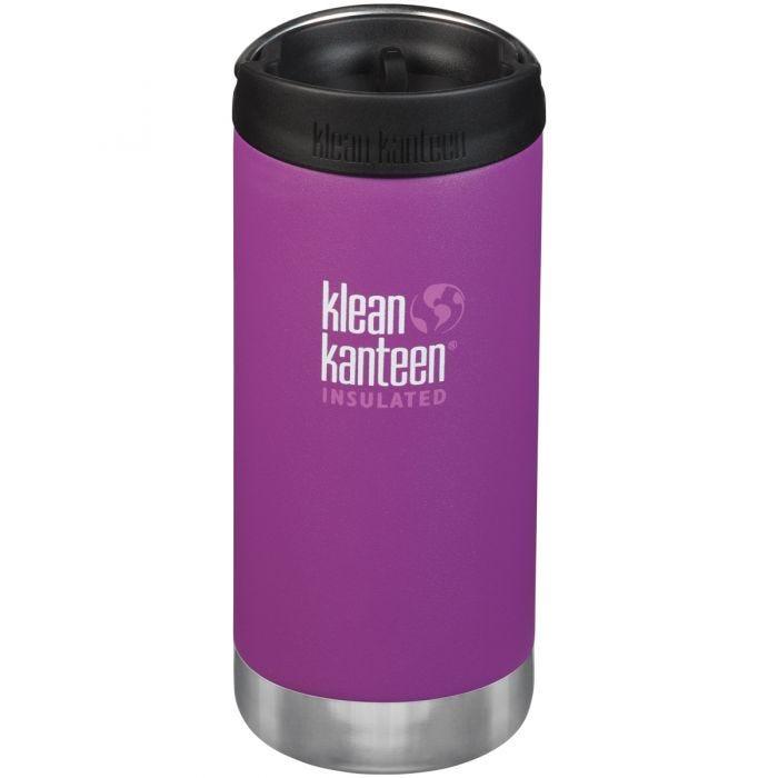 Klean Kanteen TKWide Insulated 355ml Trinkflasche mit Café Cap 2.0 Berry Bright