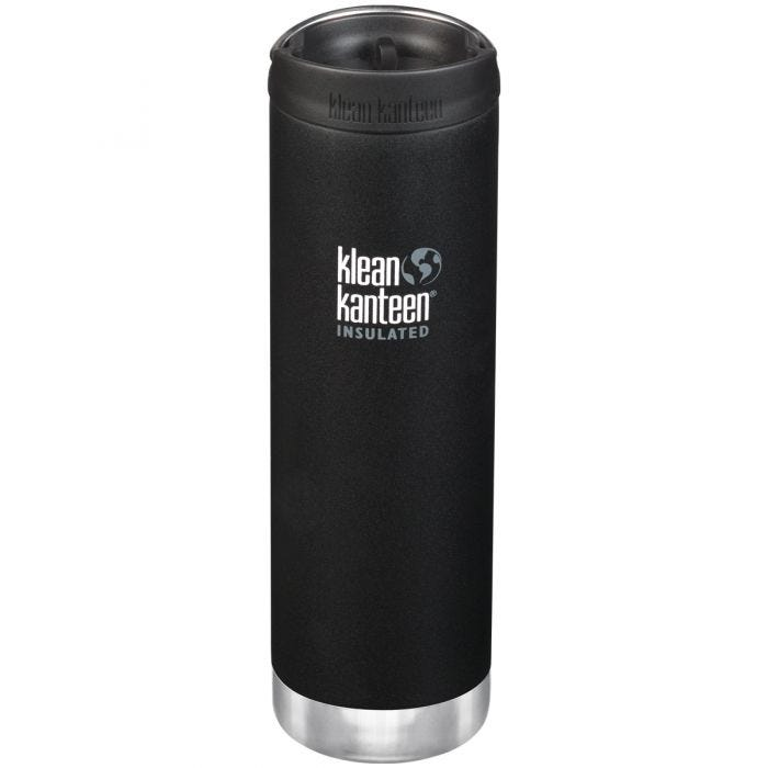 Klean Kanteen TKWide 591ml Insulated Bottle Cafe Cap Shale Black