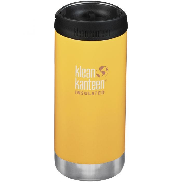 Klean Kanteen TKWide Insulated 355ml Trinkflasche mit Café Cap 2.0 Lemon Curry