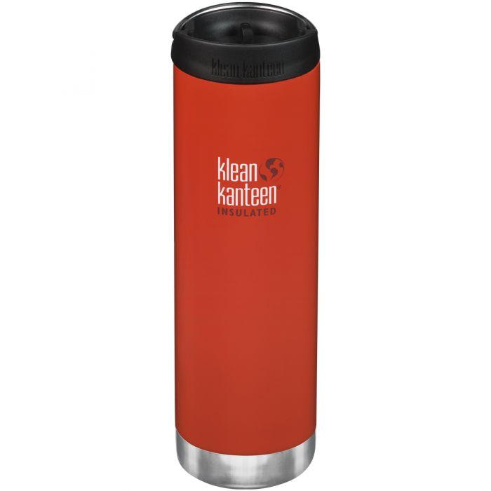 Klean Kanteen TKWide Insulated 591ml Trinkflasche mit Café Cap 2.0 Post Box Rot