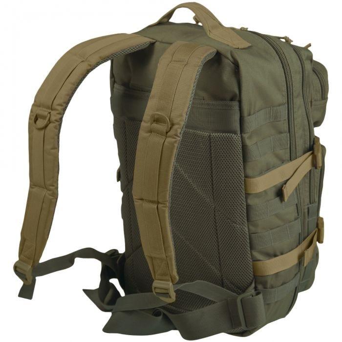 Mil-Tec US Assault Pack Large Einsatzrucksack mit MOLLE-Befestigungssyste Ranger Green/Coyote