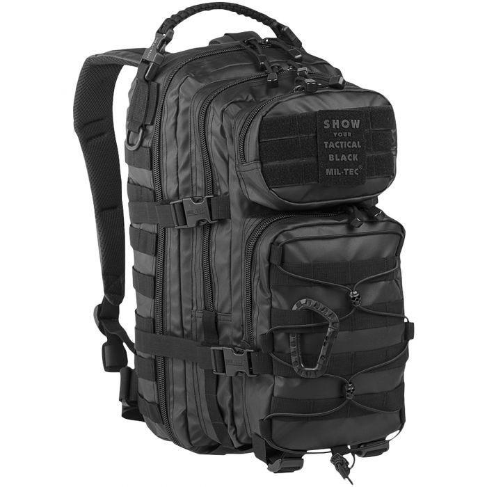 Mil-Tec US Assault Pack Small Einsatzrucksack mit MOLLE-Befestigungssystem Tactical Schwarz