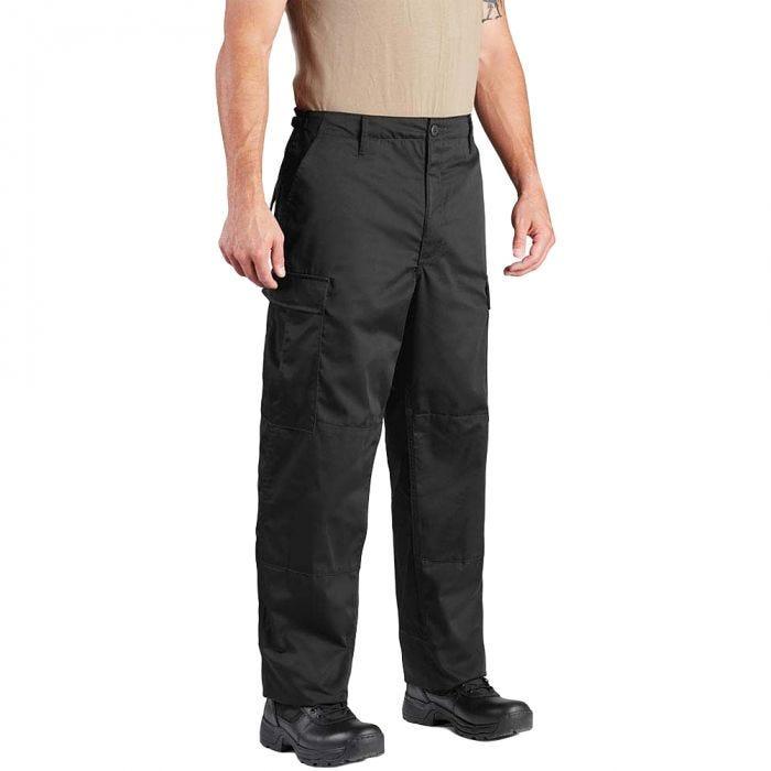 Propper BDU Hose mit Knopfverschluss aus Baumwoll-Polyester-Twill Schwarz
