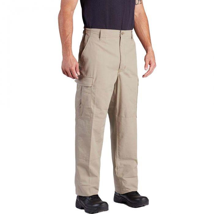 Propper BDU Hose mit Knopfverschluss aus Baumwoll-Polyester-Twill Khaki