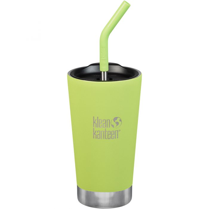 Klean Kanteen 473ml Tumbler Vacuum Insulated Straw Lid Juicy Pear