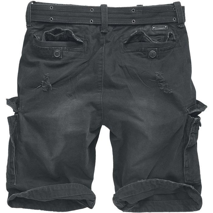 Brandit Shell Valley Heavy Vintage Shorts Schwarz
