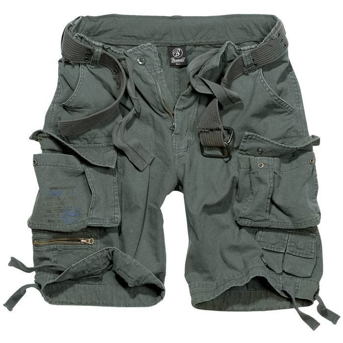 Brandit Savage Vintage Shorts Anthracite
