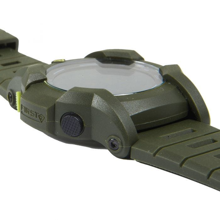 First Tactical Canyon Digitale Armbanduhr mit Kompassfunktion OD Green