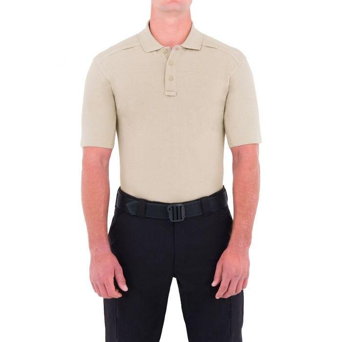 First Tactical Herren Kurzarm-Polohemd aus Baumwolle mit Stifttasche Khaki