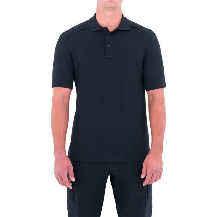 First Tactical Herren Kurzarm-Polohemd aus Baumwolle mit Stifttasche Midnight Navy