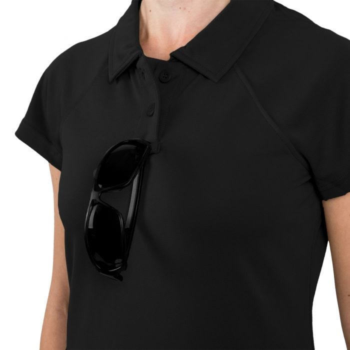 Helikon Women's Urban Tactical Line Polo Shirt TopCool Black