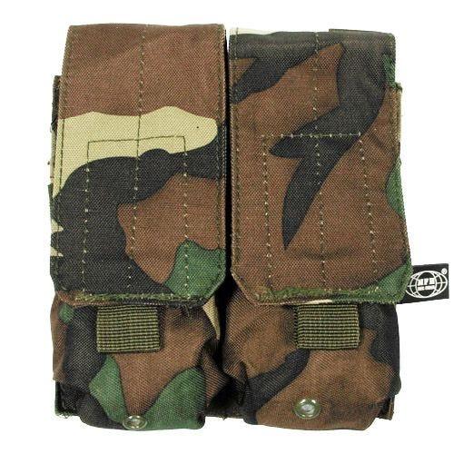 MFH M4/M16 Doppel-Magazintasche mit MOLLE-Befestigungssystem Woodland