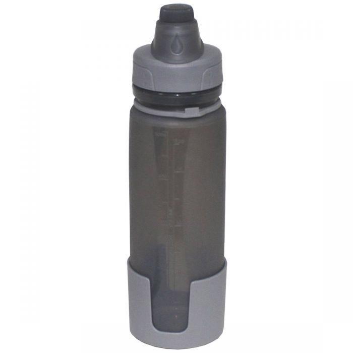 Fox Outdoor Trinkflasche zum Zusammenrollen Grau