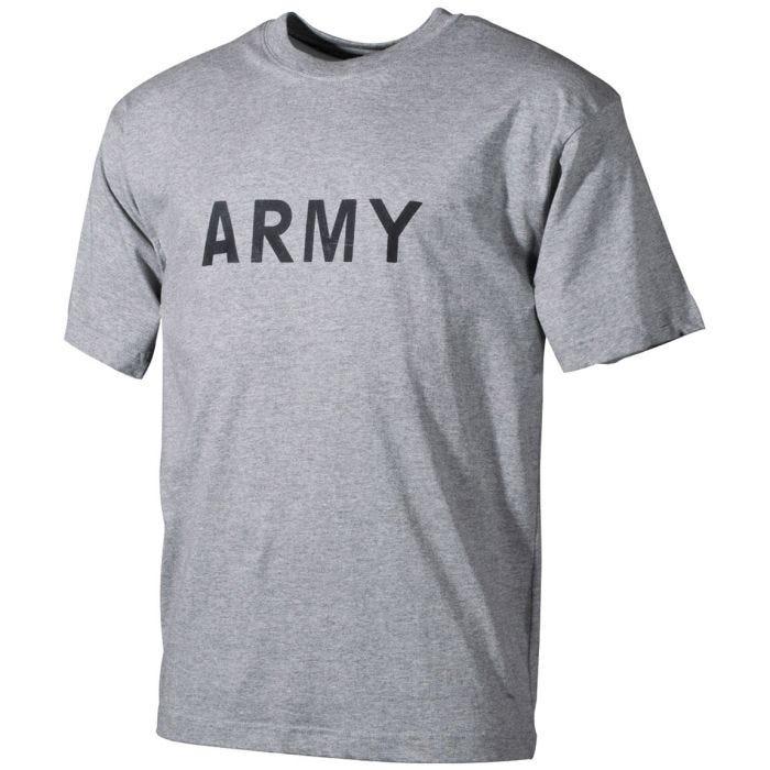 MFH T-Shirt Grau mit Schriftzug ARMY
