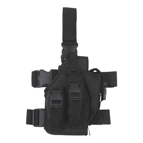 MFH Beinholster mit 3 Magazintaschen Schwarz
