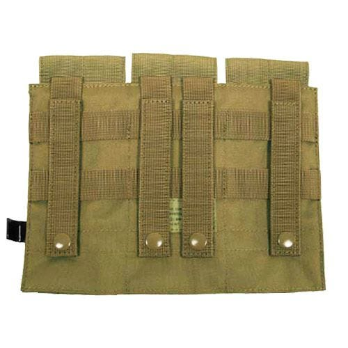 MFH Dreifach-Magazintasche für M4/M16 mit MOLLE-Befestigungssystem Coyote
