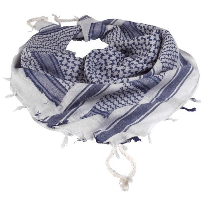 Mil-Tec Shemagh Weiß/Blau