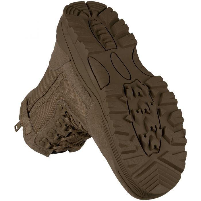 Mil-Tec Taktische Stiefel mit seitlichem Reißverschluss Braun