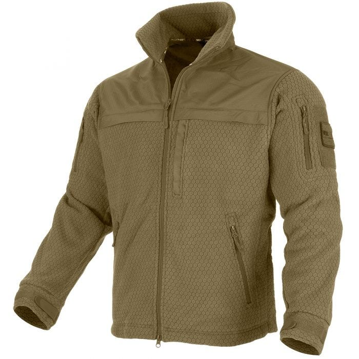 Mil-Tec Elite HexTac Fleece-Jacke Dark Coyote