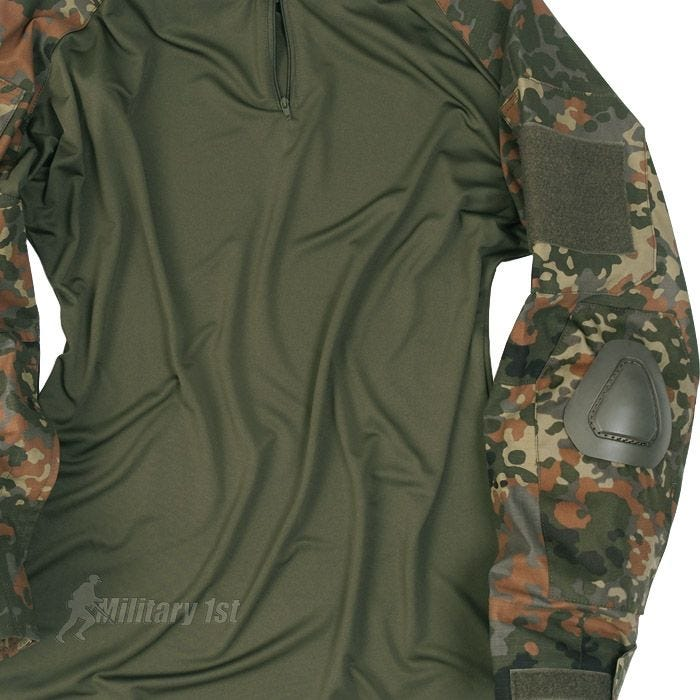 Mil-Tec Warrior Shirt mit Ellbogenschutz Flecktarn