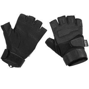 MFH Protect Fingerlose Einsatzhandschuhe Schwarz