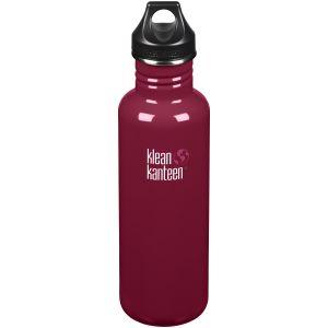 Klean Kanteen Classic 800 ml Trinkflasche mit Loop Cap Damson