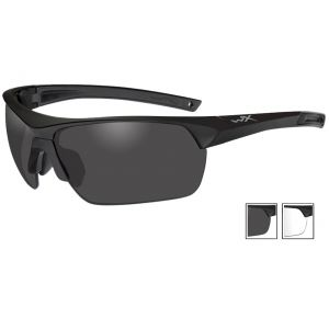 Wiley X Guard Advanced Schutzbrille - Gläser in Smoke Grey + Transparent / Gestell in Mattschwarz