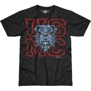 7.62 Design USMC Dress Blue Bulldog Battlespace T-Shirt Schwarz