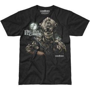 7.62 Design I Believe In Ghosts T-Shirt Schwarz
