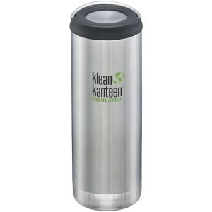 Klean Kanteen TKWide 473 ml Isolierte Trinkflasche mit Loop Cap Brushed Stainless