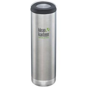 Klean Kanteen TKWide 591 ml Isolierte Trinkflasche mit Loop Cap Brushed Stainless