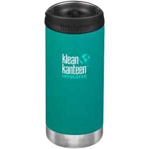 Klean Kanteen TKWide 355 ml Isolierte Trinkflasche mit Café Cap Emerald Bay