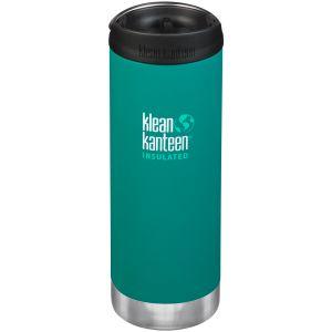 Klean Kanteen TKWide 473 ml Isolierte Trinkflasche mit Café Cap Emerald Bay