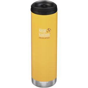 Klean Kanteen TKWide 591 ml Isolierte Trinkflasche mit Café Cap Lemon Curry