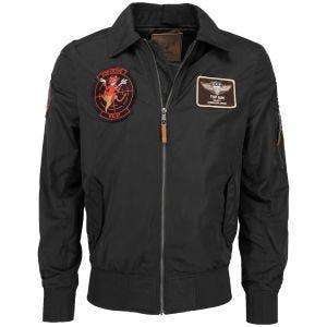 Mil-Tec Top Gun Flight Jacket Hornet Noir