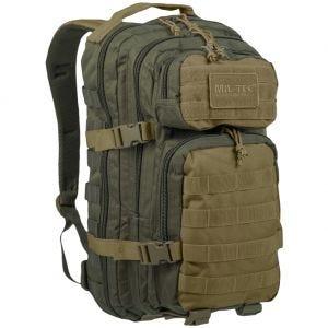 Mil-Tec US Assault Pack Small Einsatzrucksack mit MOLLE-Befestigungssystem Ranger Green/Coyote