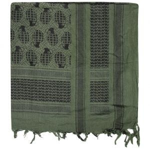 Mil-Tec Shemagh Scarf Pineapple Olive / Black
