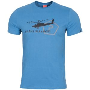 Pentagon Ageron T-Shirt mit Helikopter-Motiv Pacific Blue