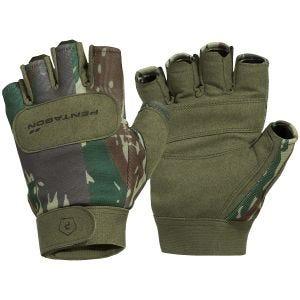 Pentagon Duty Mechanic Halbfinger-Handschuhe Greek Lizard