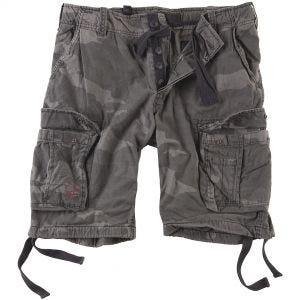 Surplus Airborne Shorts im Vintage-Stil Ausgewaschenes Black Camo
