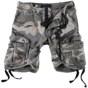 Surplus Airborne Shorts im Vintage-Stil Ausgewaschenes Night Camo