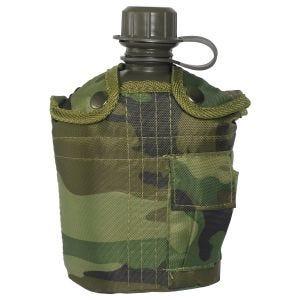 Mil-Tec Feldflasche mit Hülle 1 Liter Woodland
