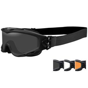 Wiley X Spear Schutzbrille - Glas in Smoke Grey + Transparent + Light Rust / Gestell in Mattschwarz